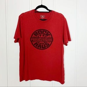 Lucky Brand Red Amsterdam Graphic Short Sleeve Tee